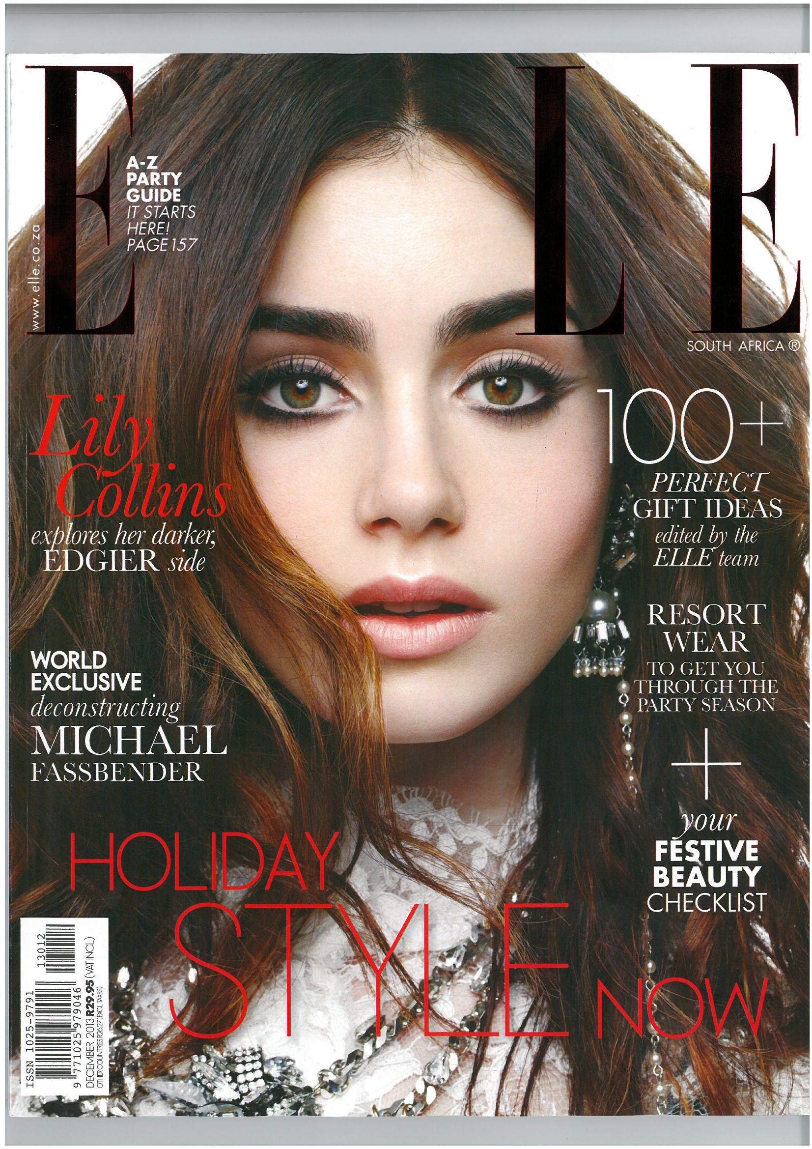 Elle Dec 2013 Front Cover